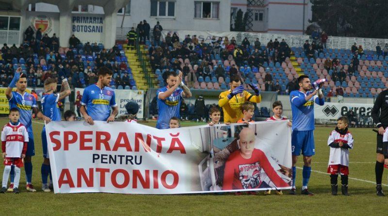 "FC Botoșani: Campania ""Speranță pentru Antonio"" continuă"