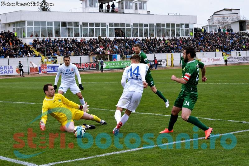 FC Botosani castiga primul meci din 2015 si ii face un debut de cosmar lui Marius Baciu - FOTO