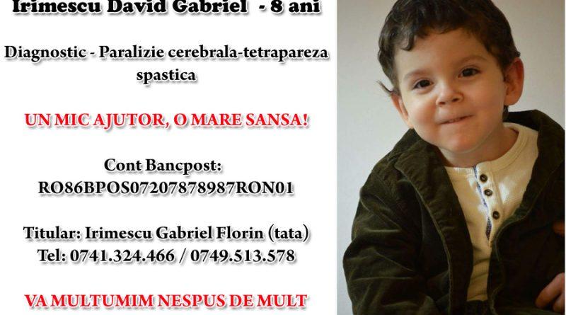 FC Botoșani este alături de David! VEZI cum poți ajuta și tu