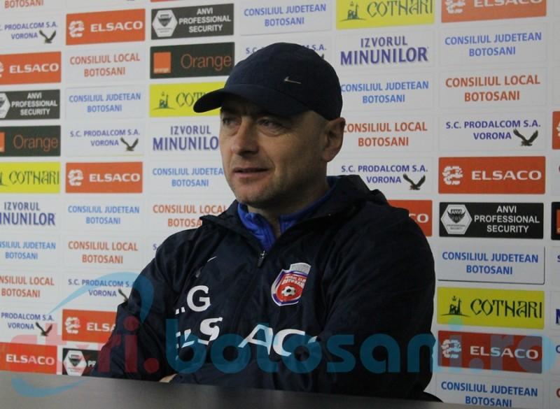 """FC Botoşani- FC Voluntari- """"Avem posibilitatea să ne răzbunăm"""", spune antrenorul Grozavu"""
