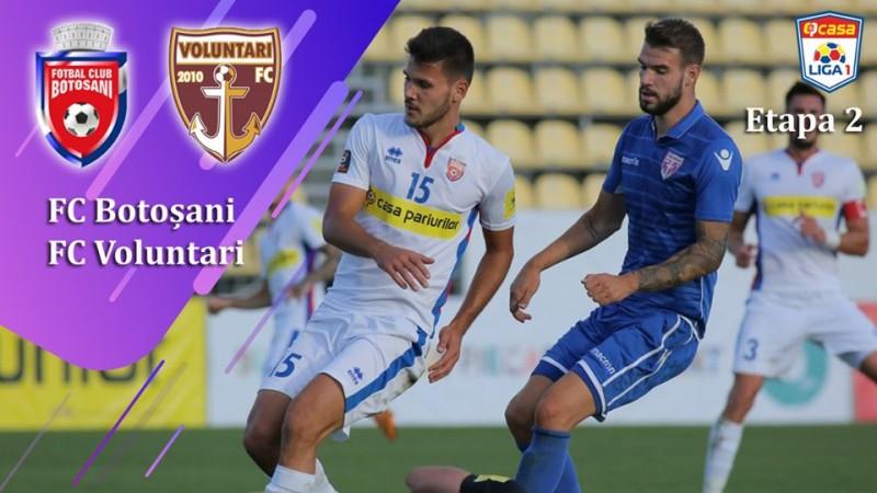 FC Botoșani, început promițător în noul sezon de Liga I. După egalul cu Astra, locul 2 în clasament. Urmează meciul cu Voluntarii