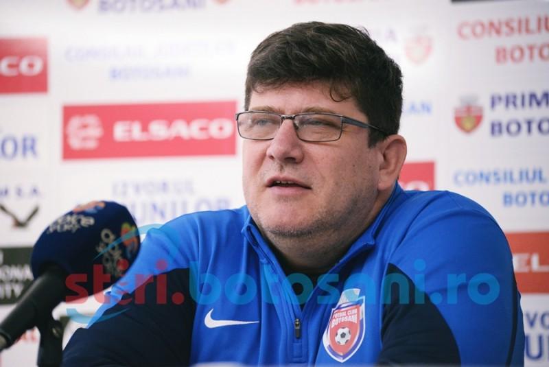 "FC Botosani, meci greu cu Steaua! Pustai: ""Sunt convins ca ne vom bate pentru orice minge"""