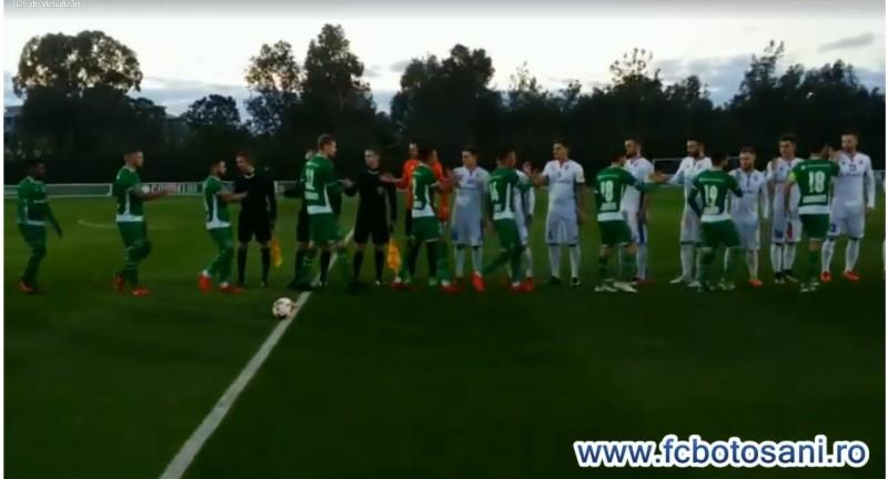FC Botoşani pierde al doilea amical disputat în cantonamentul din Antalya