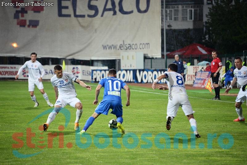 FC Botosani pierde la Craiova, dupa un meci rupt de Marcel Birsan in minutul 38!