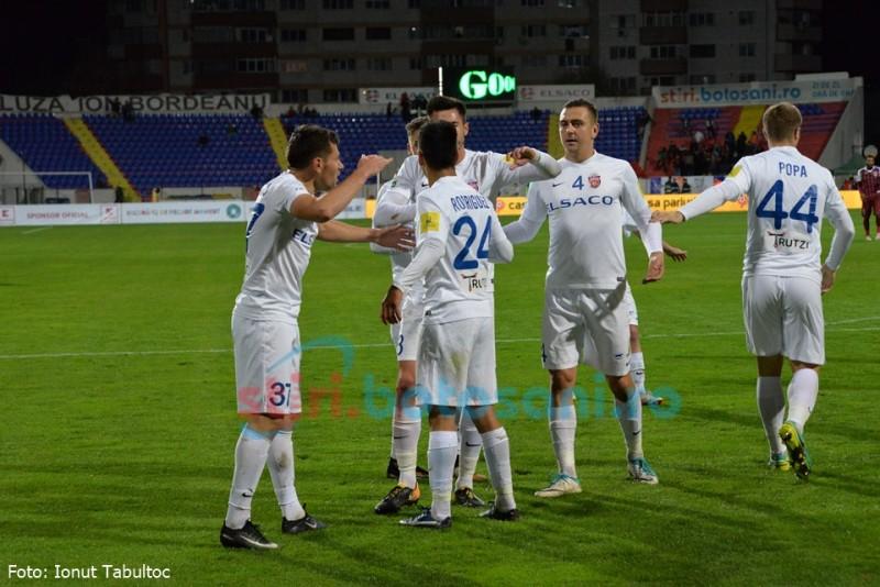 FC Botoşani rămâne pe loc de play off înainte de pauza de iarnă