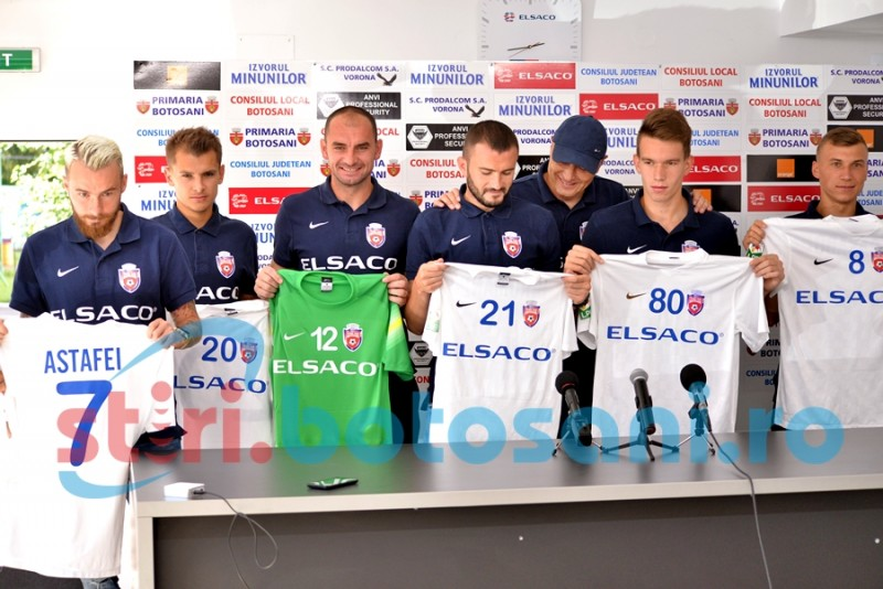 FC Botosani si-a prezentat noile achizitii! Vezi ce au declarat Astafei si Roman! FOTO