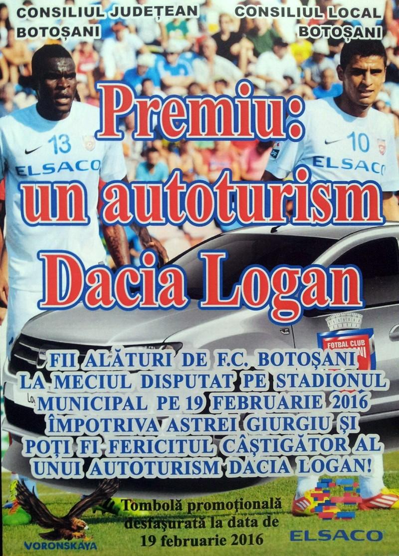 FC Botosani va da Loganul la meciul cu Astra Giurgiu! Abonatii isi pot lua taloanele!