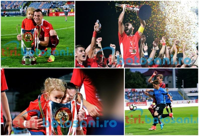 FC Voluntari câștigă SUPERCUPA României, la Botoșani! Acsinte si fetița au sarutat trofeul! GALERIE FOTO