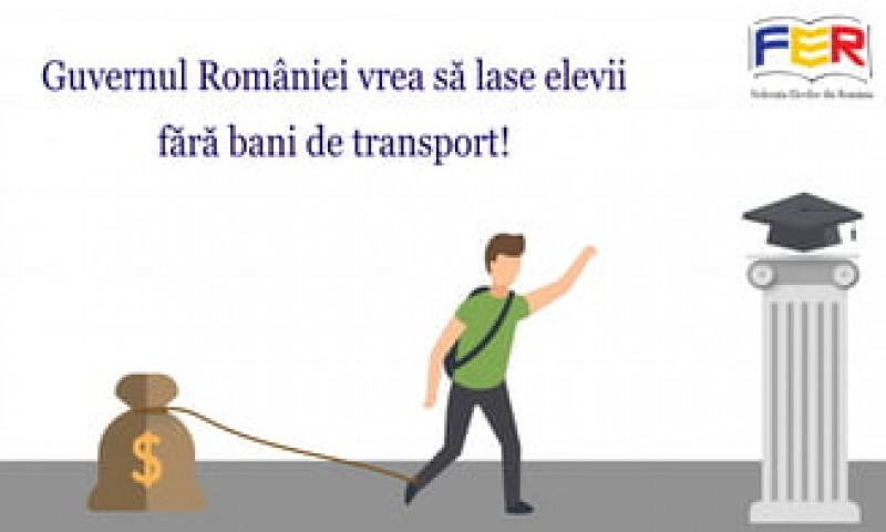 Federația Elevilor avertizează că Guvernul va adopta o ordonanță care-i lasă fără bani de transport