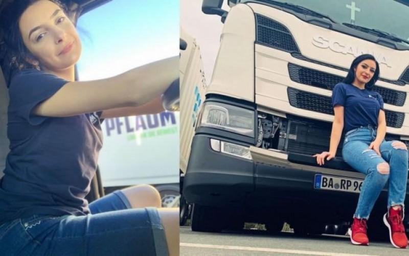 Femeia de 23 de ani din Botoșani, care conduce un mastodont de 40 de tone. Cum a ajuns unul dintre cei mai apreciaţi camionagii din Germania
