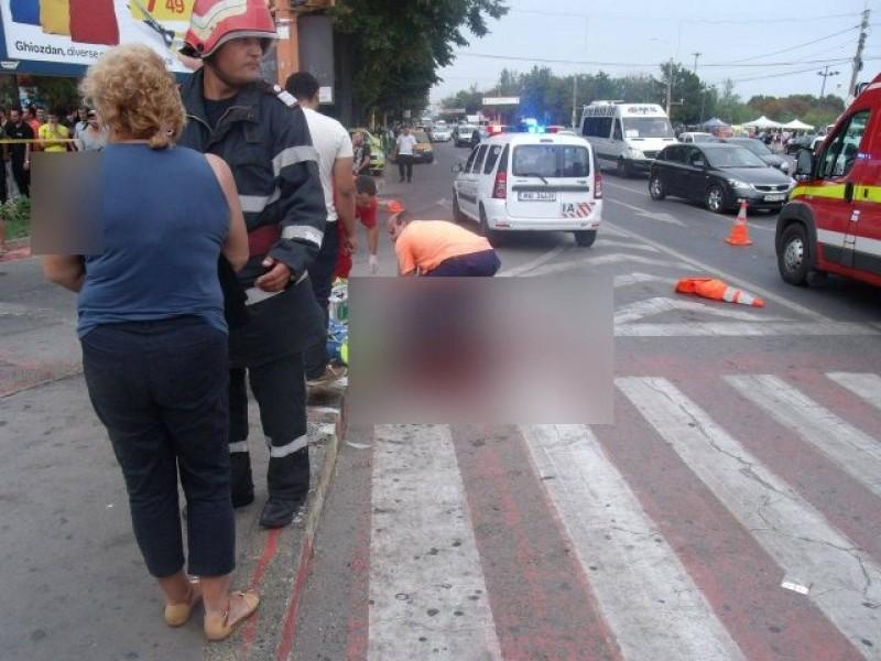 Femeie accidentată, pe trecerea de pietoni, de un șofer de 75 de ani