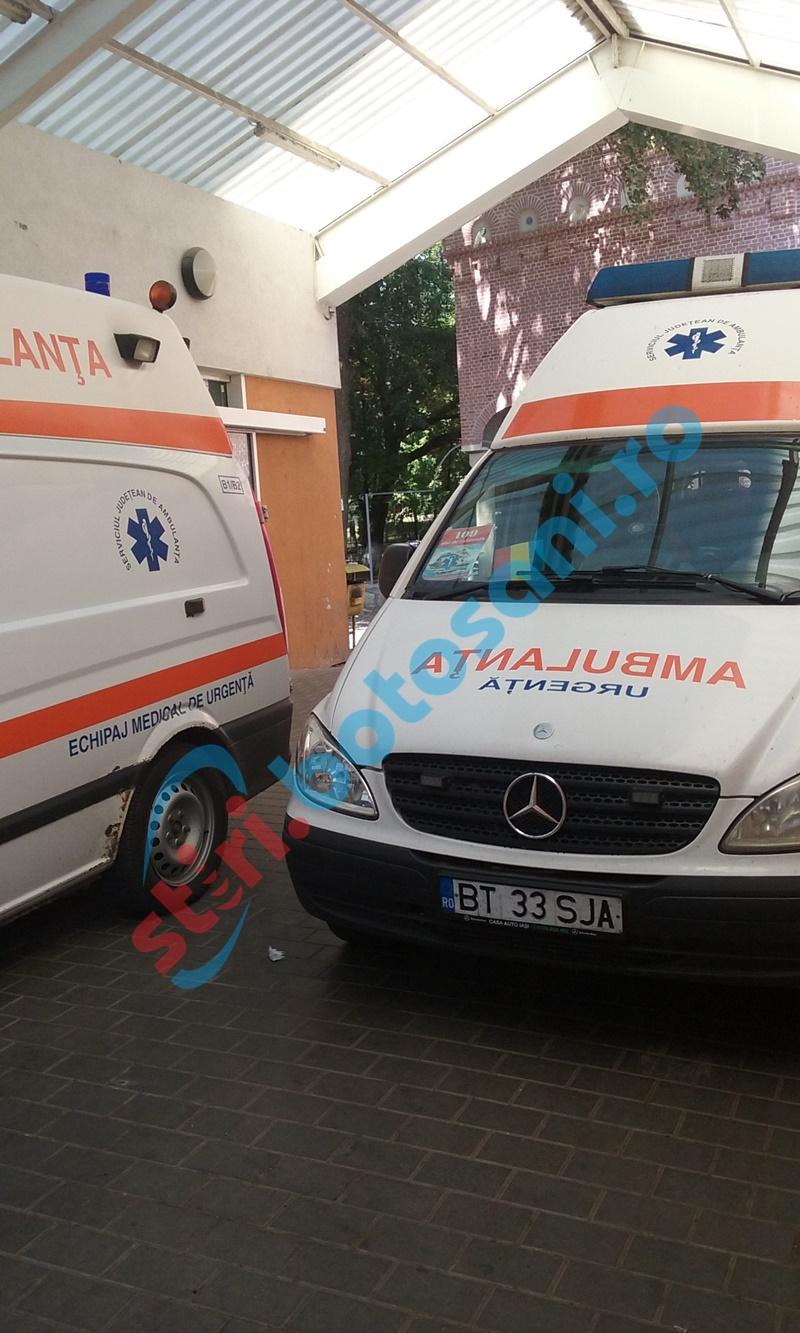 Femeie ajunsă la spital după ce s-a tăiat la picior la locul de muncă!