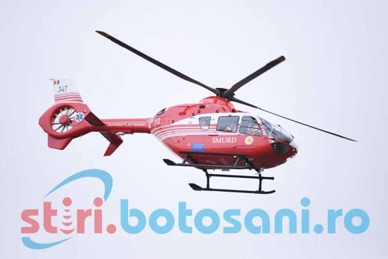 Femeie diagnosticată cu infarct, preluată cu elicopterul SMURD!