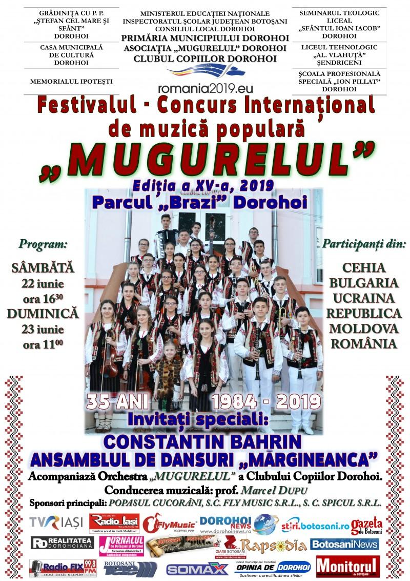 """Festivalul-Concurs Internaţional de muzică populară """"Mugurelul"""" Dorohoi, ediţia a a XV-a"""