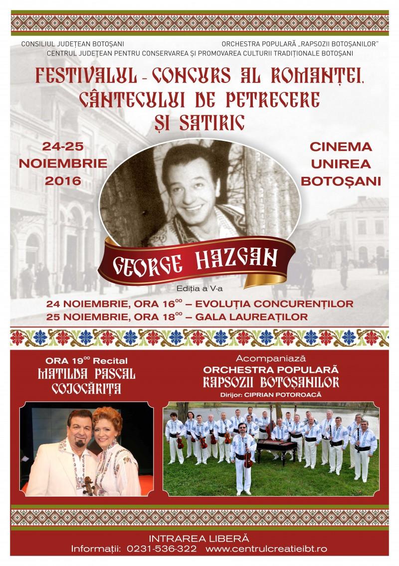 """Festivalul-concurs """"George Hazgan"""", CU Matilda Pascal Cojocăriţa şi Ştefan Cigu!"""