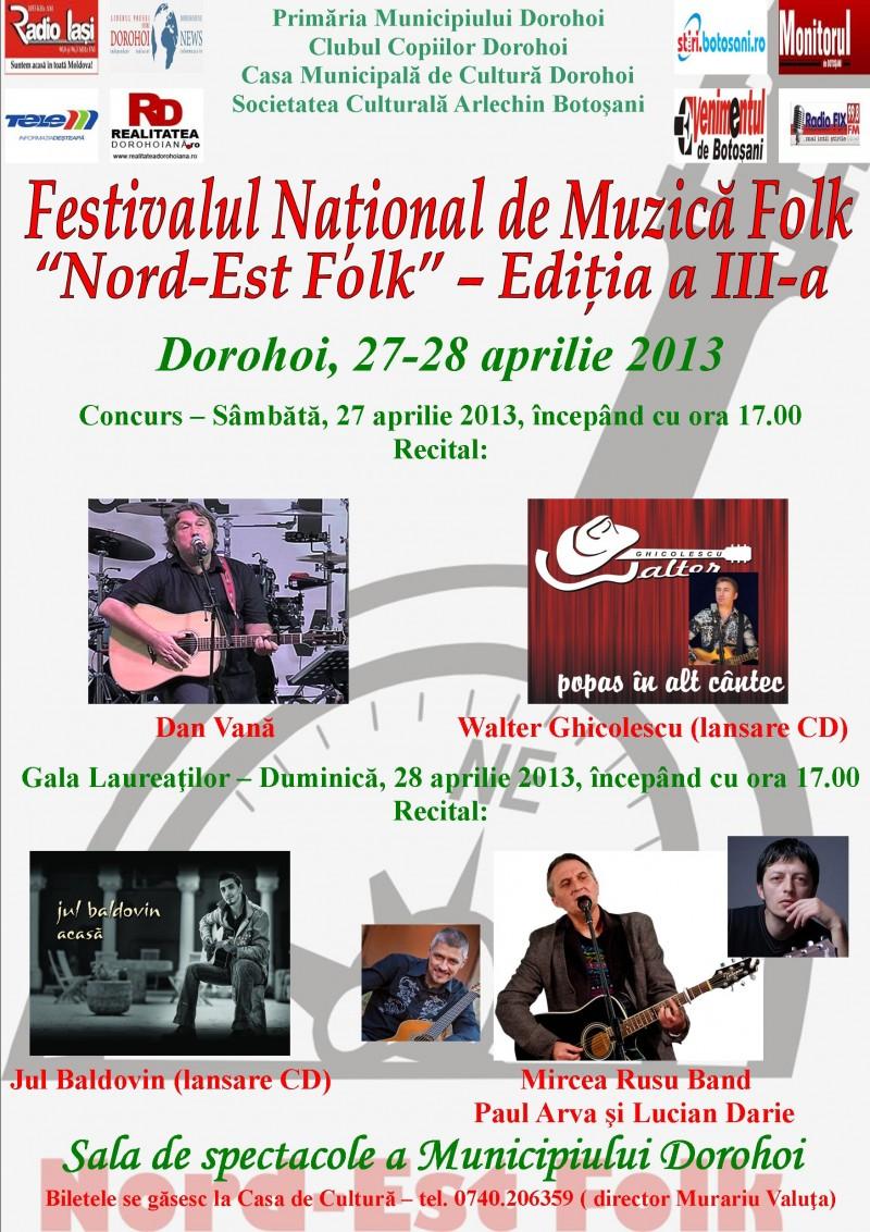 Festivalul Nord-Est Folk, la Dorohoi!