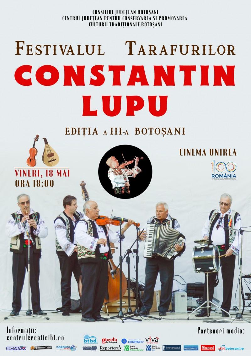 """Festivalul Tarafurilor """"Constantin Lupu"""", la a III-a ediție!"""
