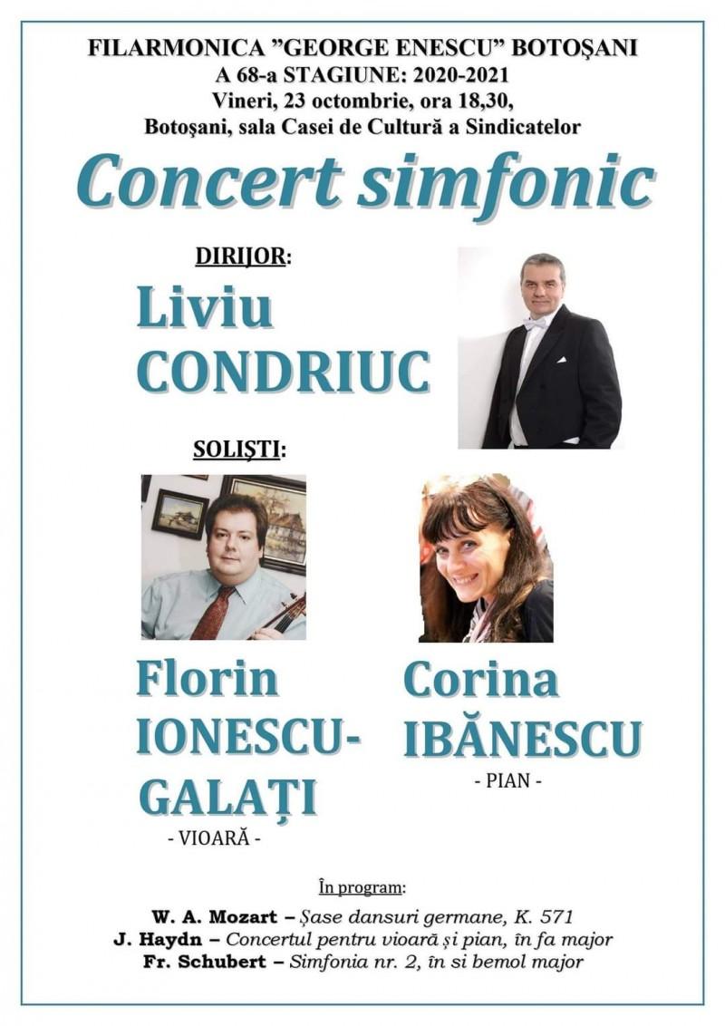 Filarmonica Botoșani invită publicul la concert simfonic