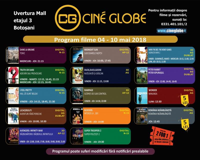 Filme care te țin cu sufletul la gură, la Cine Globe Botosani!