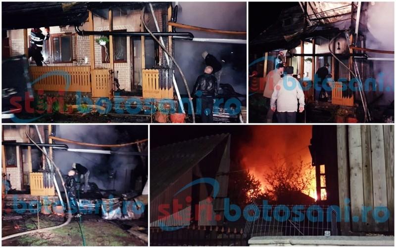 Flacari URIASE la Ipotesti! O cabana si o masina, distruse intr-un incendiu! O femeie insarcinata a suferit un atac de panica! FOTO