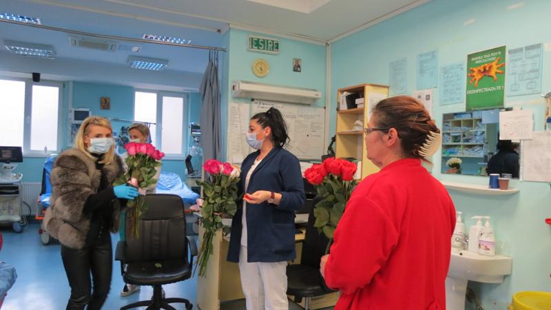 Florărie din Botoșani, gest nobil pentru medicii și asistentele din cadrul Spitalului Județean Mavromati