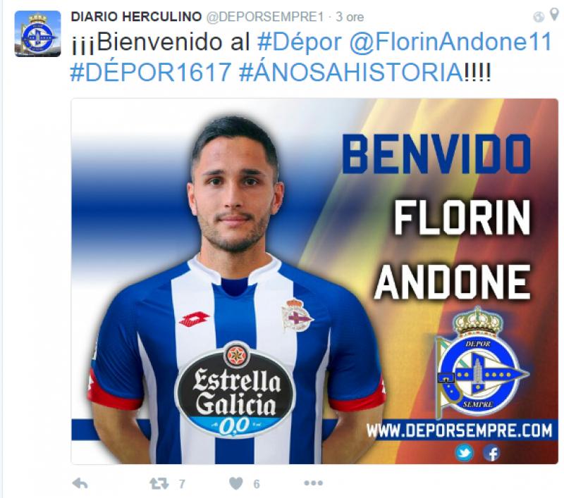 """Florin Andone s-a transferat in Primera: """"Bun venit, Florin"""". Ce sumă va primi Cordoba pentru român"""