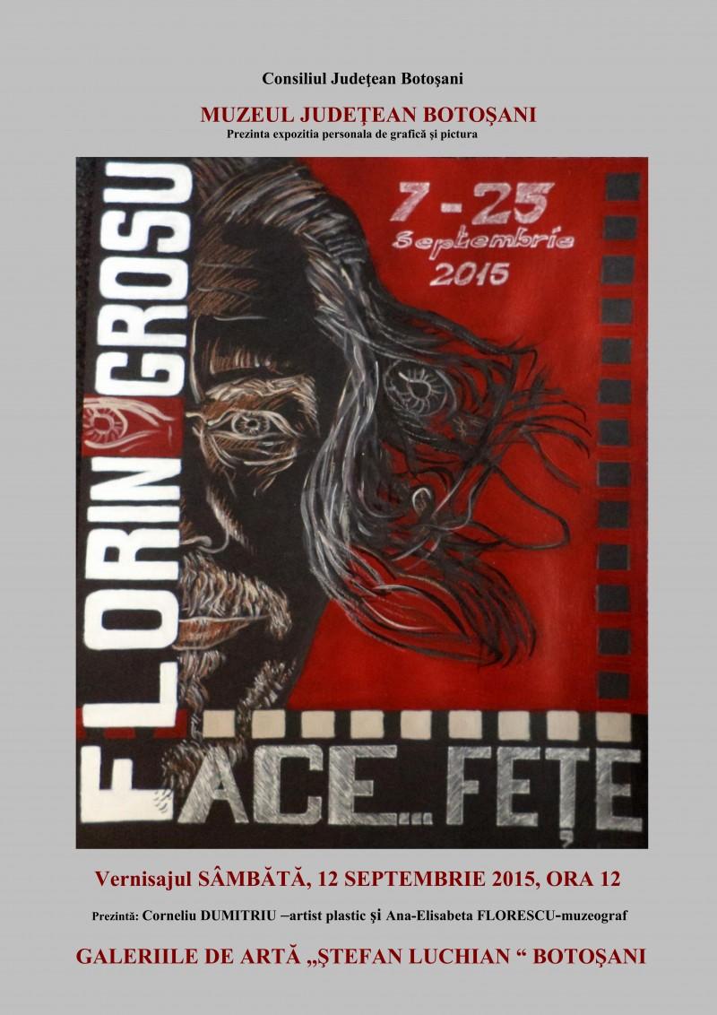 """Florin Grosu aduce """"FACE... FEŢE"""" la Galeriile de Artă!"""