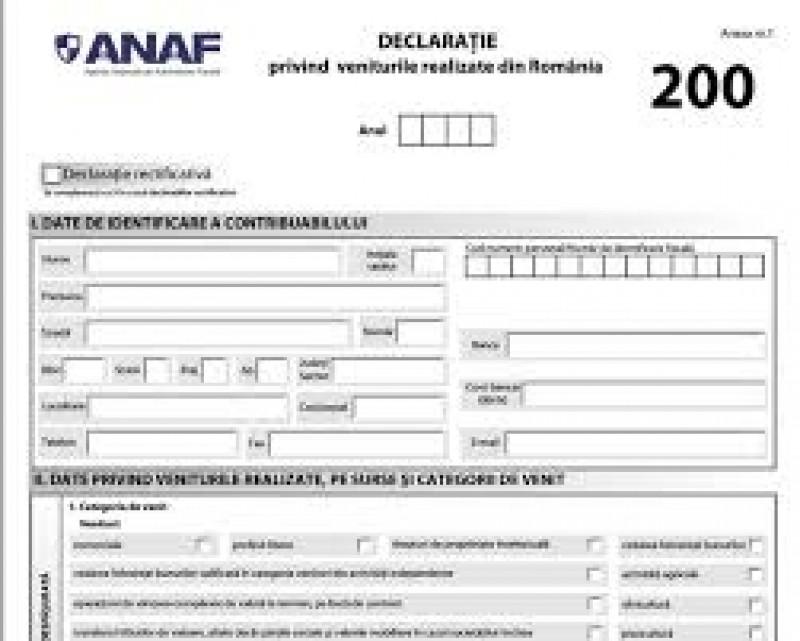 Formularele 200, 220, 600 și alte patru declarații pe care le depun persoanele fizice vor fi comasate, conform unui proiect de OUG în Contabil și fiscal