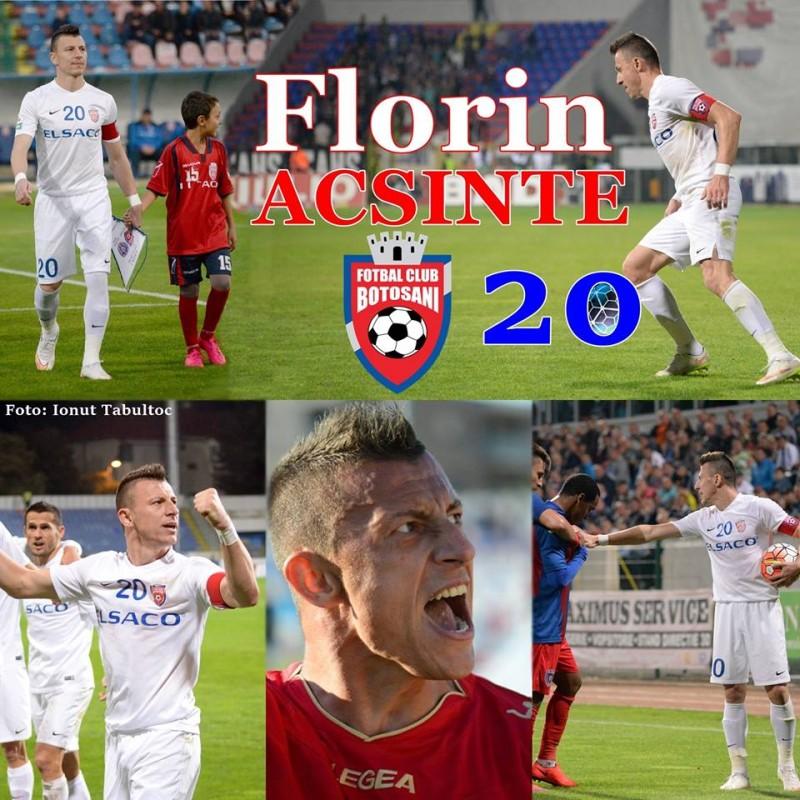 Fostul capitan al FC Botoșani, Florin Acsinte, a rămas fără cuvinte în ziua în care a împlinit 29 de ani! FOTO