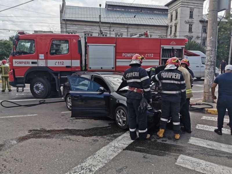 FOTO: Accident rutier, fără victime, pe Calea Națională