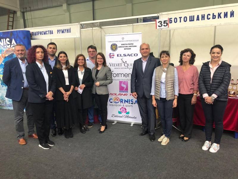 """FOTO: Afaceriști botoșăneni, prezenți la expoziția internațională """"Produs în Euroregiunea Prutul de Sus"""""""