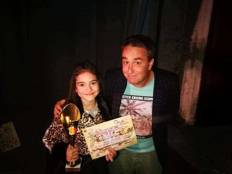 FOTO: Micul talent de aur al Botoșanilor a venit acasă cu un nou trofeu internațional