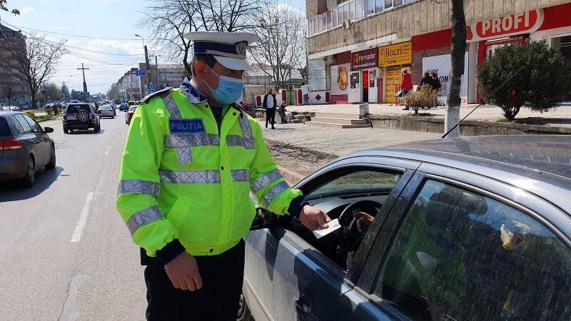 (Foto) Polițiștii botoșăneni au organizat miercuri o acțiune de prevenire și combatere a accidentelor rutiere