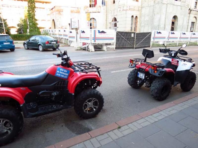 Fotografia zilei. Noul mijloc de transport pentru drumurile din Botoșani: ATV-ul!