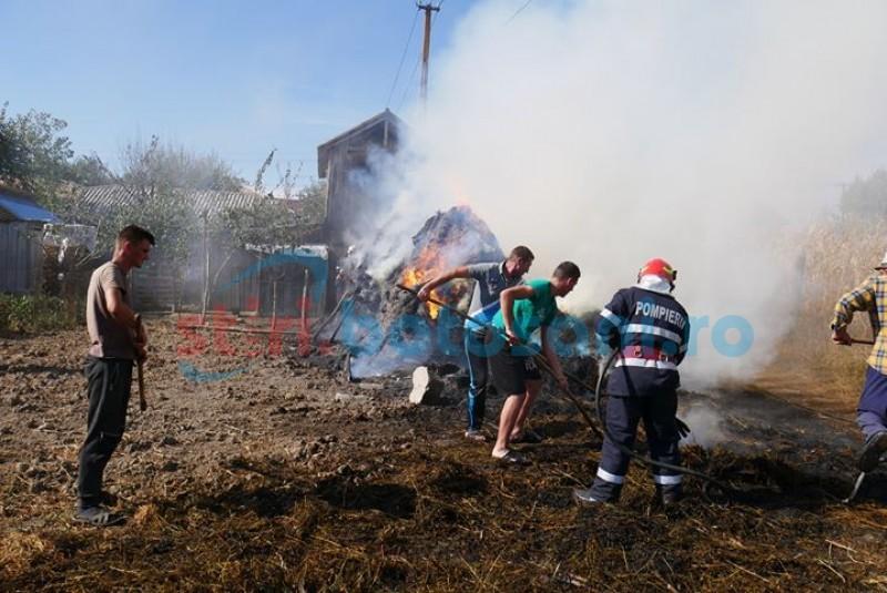 FOTO&VIDEO: Incendiu în gospodăria unui localnic din Hudești