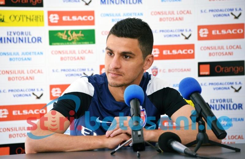 "Gabriel Vasvari: ""Am 10 ani de cand sunt la FC Botosani si ..."""