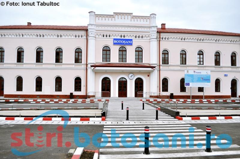 Gara din Botoșani a fost și ea verificată de comisarii ANPC