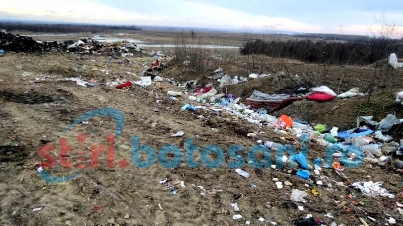 Control al Gărzii de Mediu la Corni, după imaginile aparute în presă cu gunoiul de pe malul Siretului!