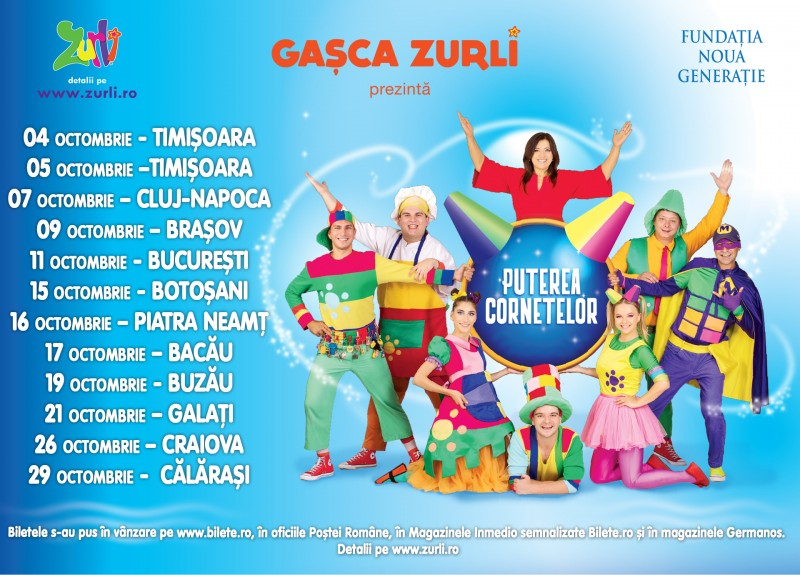 "Gașca Zurli aduce ""Puterea Cornetelor"" la Botoșani"
