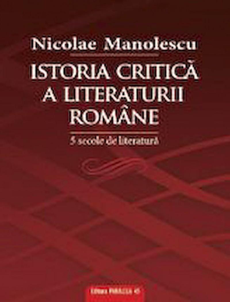 GELLU DORIAN - Evenimentul inceputului de mileniu III - ISTORIA CRITICA A LITERATURII ROMANE, de Nicolae Manolescu