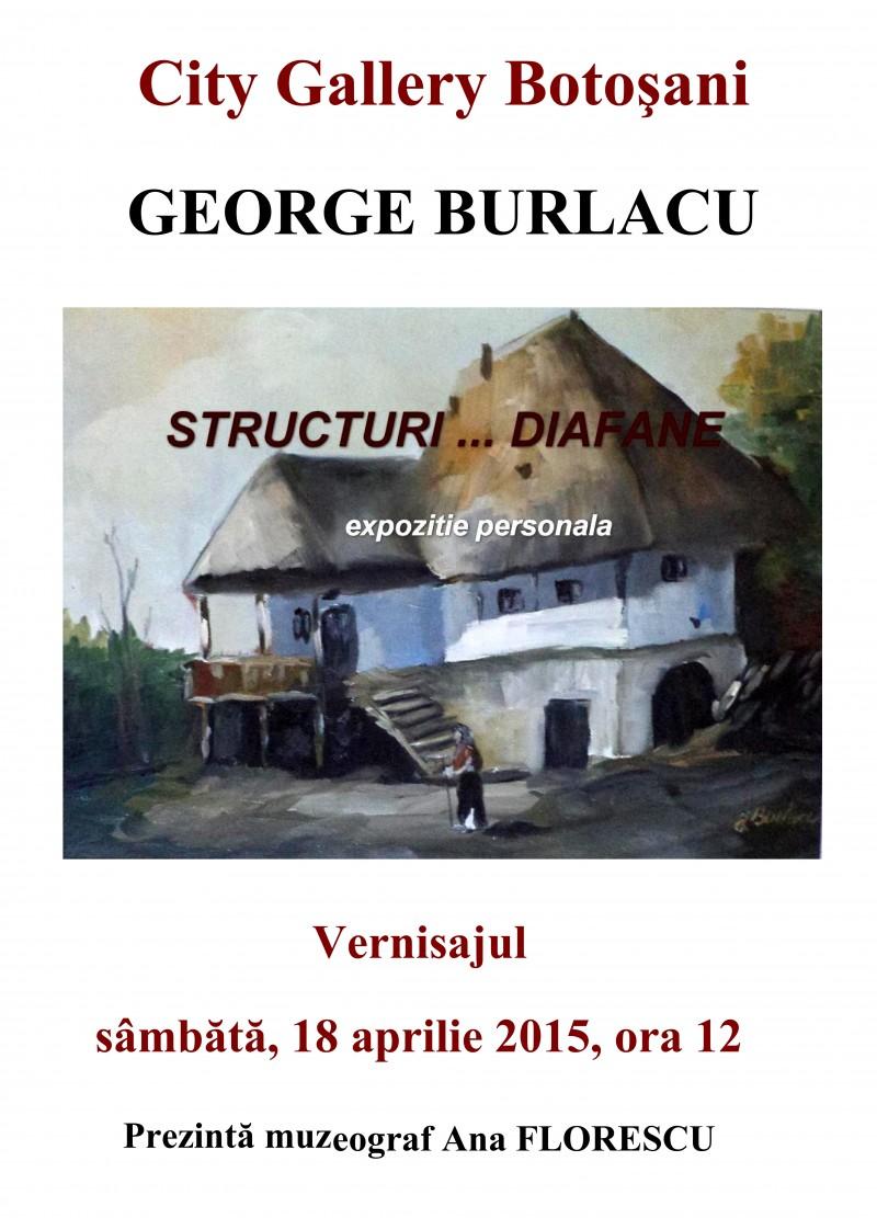 "George Burlacu expune ""Structuri... diafane"", la City Gallery"