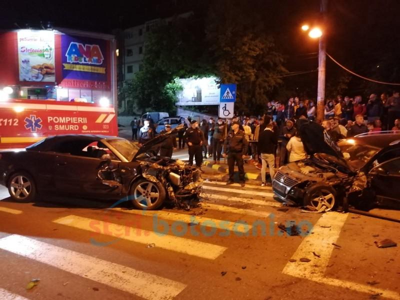 Grav accident de circulație în municipiul Botoșani. Tragedie transmisă LIVE pe Facebook