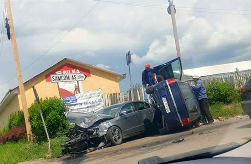 Grav accident rutier astăzi la marginea municipiului Botoșani, spre Roşiori