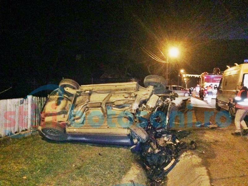 Grav accident rutier la Vorona! Un tânăr s-a răsturnat cu mașina! FOTO