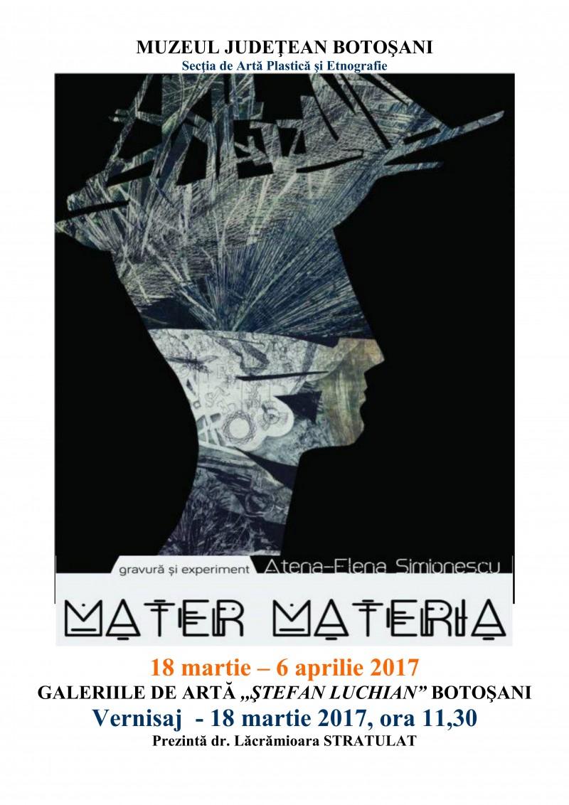 """Gravură şi experiment """"Mater MATERIA"""", expoziția artistei Atena Elena Simionescu la Galeriile Luchian!"""