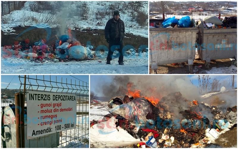 """Gunoi menajer incendiat la marginea satului Agafton, cu o zi înainte de colectarea acestuia: """"Asta e dispoziția de la Primărie"""" - FOTO, VIDEO"""