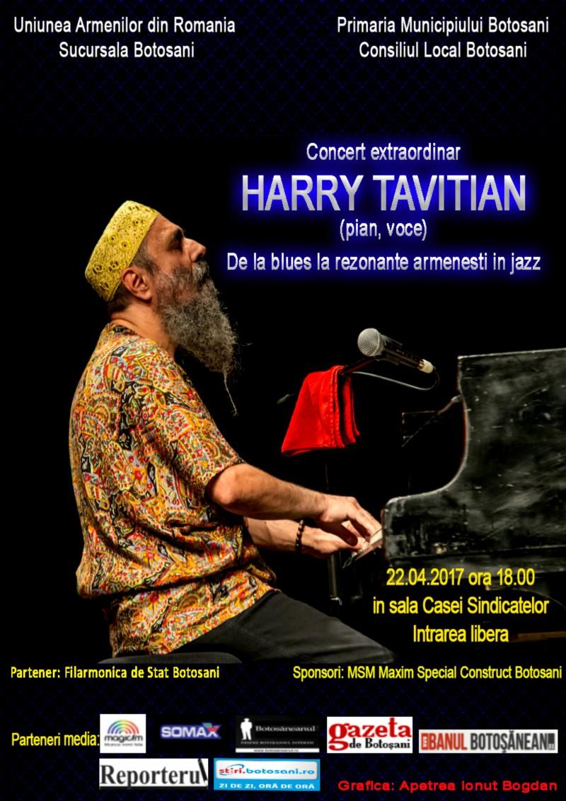 """Harry Tavitian, concert de Zilele Orașului Botoșani: """"De la blues la rezonanțe armenești în jazz"""""""