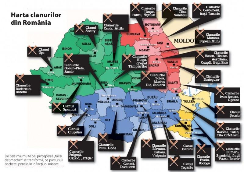 Harta Clanurilor Interlope Vezi Cine Stăpaneste In Judeţul
