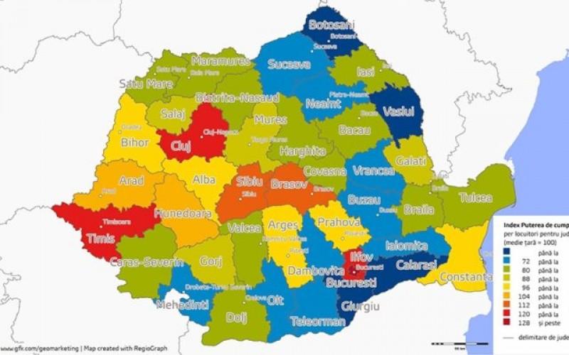 Harta Puterii De Cumpărare Botoșani Vaslui Călărași și Giurgiu
