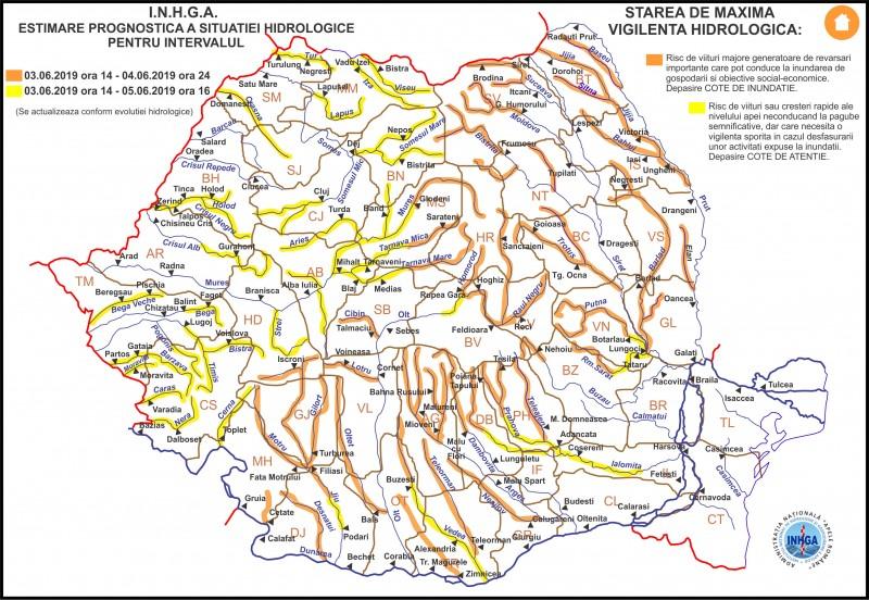 Hidrologii au emis coduri galbene și portocalii pe râurile din județul Botoșani!